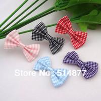 Wedding tartan plaid ribbon - Colors U Pick Tartan plaid Ribbon Bows flower Appliques craft