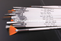 Cheap Gel Nail Brushes Nail art brush Best 15 Pcs Plastic nail brush