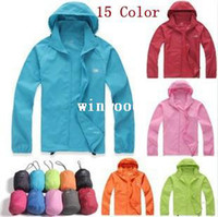 Wholesale 2014 Arrive New XS XXXL Women Men Ultra Light Outdoor Sport Waterproof Jacket Quick Dry Clothes Skinsuit Plus Size Dust Coat
