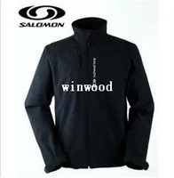 Wholesale 2014 new SALOMON Men s Outdoor windproof soft shell jacket warm clothing long sleeve camping hiking hunting clothes large size