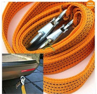 Wholesale 3 Tons Car Tow Cable Towing Strap Rope with Hooks Emergency Heavy Duty FT