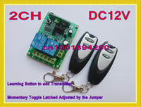 Wholesale DC12V CH Remote Control Switch Automatic Door Operators Receiver Transmitter Learning code Momentary Toggle Latched MHZ