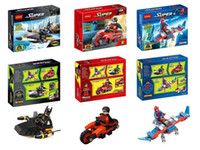 Wholesale Super Man Robin Spider Man With Car Building Block Sets Model Bricks Classic Toys For Children