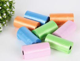 Wholesale 10000pcs New Pet Dog Garbage Clean up Bag Pick Up Waste Poop Bag Refills Home Supply random color roll P3375