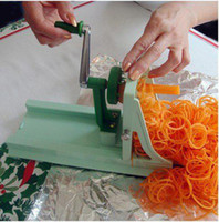 Wholesale New Fruit Garnish Cutter Peeler Spiral Fruits Vegetable Curler Slicer Funny Kitchen Tools
