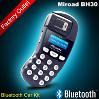 Wholesale Miroad BH30 New Wireless Bluetooth Hands free Speaker phone Bluetooth Car Kit With Car Charger