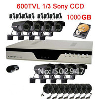 Box/Body Guangdong China (Mainland) Yes Security System H.264 8CH DVR 600TVL High Resolution 84 IR CCD CCTV Camera HDD