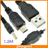 Wholesale NEW In USB Power Charger And Data Transfer Cable For PSP M Black