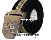 Wholesale men lady cotton belt western fabric belt men women webbing canvas belt
