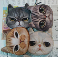 Wholesale color coin purses cat change PU Leather purse cute coin purse bag women wallets women clutch