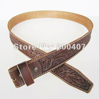 Wholesale Retail Belt Western Hand Crafted Flowers Classic Light Coffee Color Belt Fast Delivery Brand New