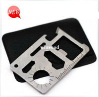 Camp Tools Yes Survival card Survival Cardsharp Credit card folding safety knife + 11 in 1 Mini Multi Tool Card with leather cover Camping Equipment