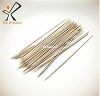 Wholesale 100 X CM BAMBOO SKEWER BBQ KEBAB CHOCOLATE FOUNTAIN FRUIT WOODEN STICKS FONDUE