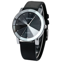 Wholesale SINOBI Casual Style Simple Hour Mark Mens Womens Dress Wrist Watches Business Wristwatches Gift Hot Sale