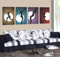 More Panel Digital printing Fashion Modern Painting Wall Decor 4 Panels High Q. Oil Painting on Canvas Photo Prints Art Pictures for Home Decor Ready to Hang