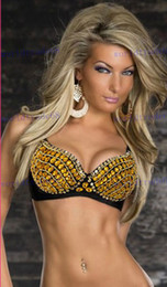 Wholesale Dazzling Punk Rhinestone Bra Lingerie Rhinestones Bra Sexy Top Drop Shipping Cheap Price