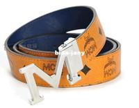 Wholesale 2014 Cool MCM belts for men Popular leather belt for women Latest MCM shop Belts Mens and women s belt