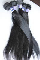 Wholesale 5A grade best hair Brazilian Virgin Hair Extension straight natural Mixed length available quot quot