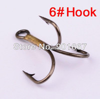Wholesale 2014 New Brown Color Fishing Equipment Fishing Hook High Carbon Steel Treble Hooks Fishing Tackle pc