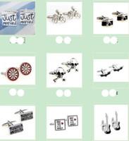 Wholesale pair style Cameras dart board skeletons Batman Novelty Men Shirt Cuff links jewelry cufflinks