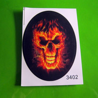 PVC   100pcs lot FlaMes Skull Motorcycle Car Auto Racing Decal Sticker