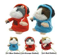 MC DJ rapero mimetismo mascotas Talking Hamster Animal niños de juguete de felpa DJ Music Hamster
