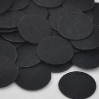 Wholesale 100pcs Felt mm Circle Appliques Black F06