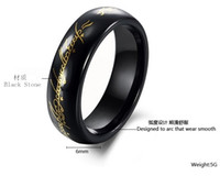 Band Rings Celtic Unisex Wholesale latest religious gifts hand jewelry wholesale gold ring black stone male pattern AASupreme Lord of the Rings Lord of the Rings...