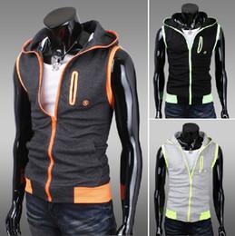 Wholesale 2926 New Hot Fashion Men s Casual Slim Hooded Knitting colors Men s vest