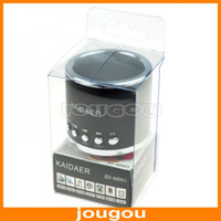 Wholesale Portable Mini Stereo Digital Speaker MP3 Player With FM And Micro SD TF Card Slot KD MN01 For MP3 iPhone Computer Free FEDEX