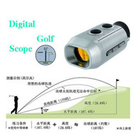 Wholesale Professional electronic golf range finder miniature digital electronic distance measuring meter telescope