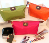 Wholesale women s cosmetic bag large capacity cosmetic case candy color nylon cosmetic box waterproof makeup case bag