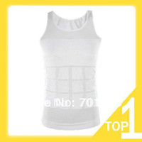 Cotton Men Animal Holiday Sale New 1pc Black Color Men's Vest Tank Top Slimming Shirt Corset Body Shaper Fatty Y3238
