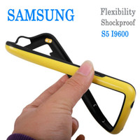 Wholesale TPU Frame Bumper thin Silicone gel Soft Shockproof Protection Cover Case For Samsung Galaxy S S5 i9600 Cell phone cases