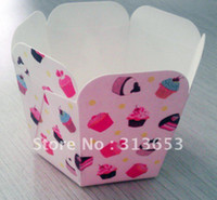 Wholesale 50pcs muffin case cakecup liner cupcake cases dessert container cake cup baking accessories free shiping