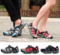 Wholesale Men amp Women Unisex Sandals Fast Dry Genuine Leather Mesh GKT1202 Climbing Wading Hiking Cool Casual Summer Beach Shoes Size