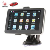 Gps Navigator australia support - 5 Inch High Sensitivity Portable AV In Auto Car GPS Navigation Navigator System Support MP3 MP4 FM Built in GB Memory GPS_203