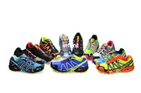 Wholesale Cheap men Salomon Nordic walking jogging Colors Sport alomon Running shoes Sneakers HongKong Post Air Mail