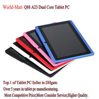 Wholesale Inch A23 Dual Core Tablet PC With USB Keyboard Case Android Allwinner A23 Ghz MB RAM GB WIFI Dual Camera MID Colo