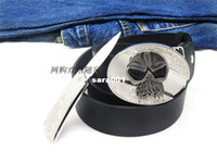 men's belts - 6 color male belt personality twinset men s belts rotating knife skull with buckle Wilderness Outdoor Camping Hunting Survival
