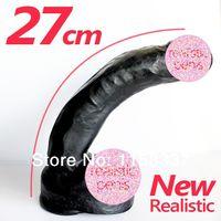black dildo - Hot selling11 mm super huge dildo realistic with suction cup dildo big black dildo vibrator for women black dildo silicone
