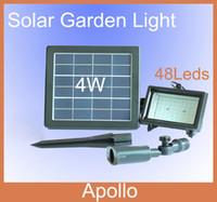 IP65 Garden  Solar LED Flood Light Lamp 48 Leds 4W Solar Panel Garden Outdoor LED Projection Landscape Flood Lamp LED Solar Lawn Lights Yard Spotlight
