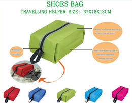 Wholesale 2014 New Fashion Waterproof Oxford Fabric Travel Shoes Bag Foldable Portable Storage Bags Colors Available MM25