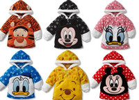 Wholesale HOt New Hoodies Cartoon Design Sweatshirts Winter Cheer Fleece Kids Thick Cothing Hot Sale Coat Full Cotton Clothes XC917H