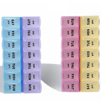 Bamboo Bedding Eco Friendly Free Shipping 14 Compartment Pill Organizer Box Case Storage Medication Y1260