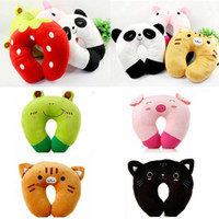 Wholesale Travel Car Office Relax U shaped Animal Design Neck Head Rest Pillow Y1336 Y1342