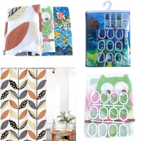 Eco-Friendly,Stocked bath sea - Cute Waterproof Bath Shower Curtains Hooks PEVA Leaf Owl Sea Modern Room Decor