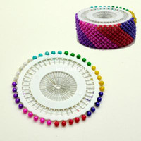 Wholesale New Multi Color Sweing Faux Pearl Round Head Pins Cushion Corsage Pins