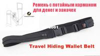 Wholesale 5pcs Black Color D Fabric Travel Wallet Belt with SECRET COMPARTMENT Hiding Stash money Belt