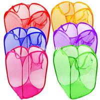 Wholesale Pop Up Mesh Wash Laundry Hamper Tidy Clothes Basket Bin Foldable Storage A1095